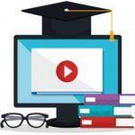 computador e livros para cursos online